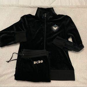 BCBG Max velour Tracksuit - jacket L - pants XL